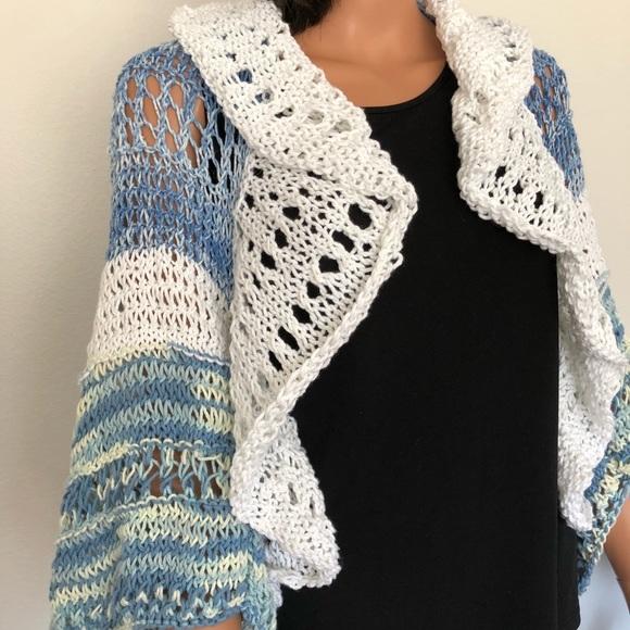 3e1f88d12f1eb Hand Knits 2 Love Shrug Sweater Shawl Designer Hip